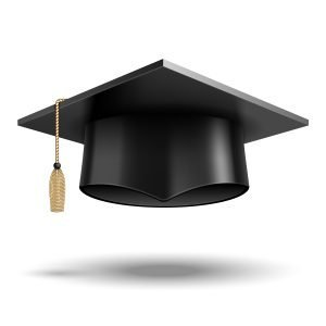 Vector Student hat isolated on white background